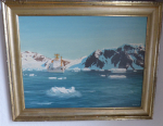 Oil Colour Painting by Rudolf Ressel : German Research Ship Explora !