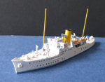 Ship Model old Steamer / Yacht Alva - 1 : 1250 !