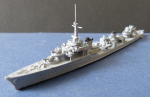 Ship Model French Navy Second World War Destroyer Le Terrible !
