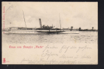 Postcard of the Paddlesteamer , Pleasure Boat Hecht !